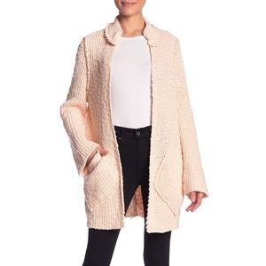 NWT Free people waterfront cardigan In peach